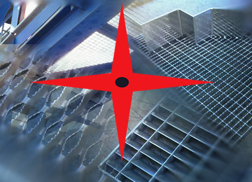 Production, spiral staircases, gratings, pressure locked gratings, full cell gratings, welded gratings, GRP gratings