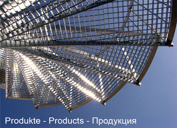 Products, gratings, grating stair treads, spiral staircases